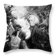 Hector Berlioz, French Composer Throw Pillow