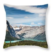 Hector Lake, Canadian Rockies Throw Pillow