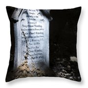 Hedera Throw Pillow by Helga Novelli