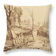 Hedging And Ditching Throw Pillow
