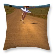 Heel Clicks On The Washboard Throw Pillow