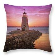 Hefner Lighthouse Throw Pillow