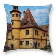 Hegereiterhaus Rothenburg Ob Der Tauber Throw Pillow