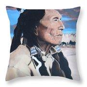Hehaka Sapa Black Elk Throw Pillow