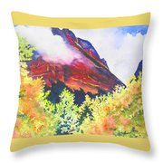 Heights Of Glacier Park Throw Pillow