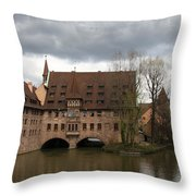 Heilig Geist Spital - Nuremberg Throw Pillow