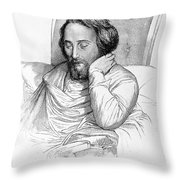 Heinrich Heine, German Writer Throw Pillow