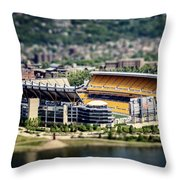 Heinz Field Pittsburgh Steelers Throw Pillow