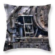 Heisler Steam Engine Throw Pillow