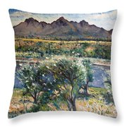 Helderberg Clearmountain Cape Town South Africa Throw Pillow