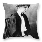 Helen Keller (1880-1968) Throw Pillow