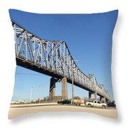 Helena Arkansas Bridge 2 Throw Pillow
