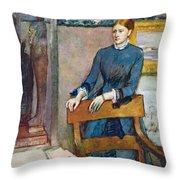 Helene Rouart Throw Pillow by Edgar Degas