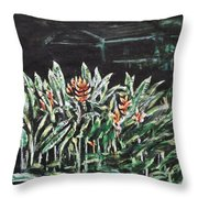Heliconia 3 Throw Pillow