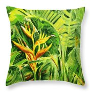 Heliconia 8 Throw Pillow