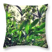 Heliconia Cluster Throw Pillow