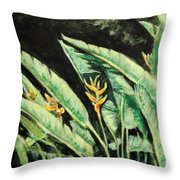 Heliconia Flower 7 Throw Pillow