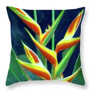 Heliconia Flowers #249 Throw Pillow