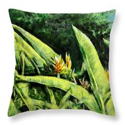 Heliconia Flowers 6 Throw Pillow
