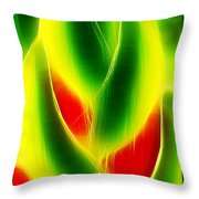 Heliconia Stem In Costa Rica Throw Pillow