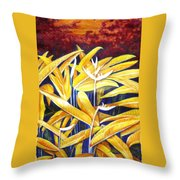Heliconia Throw Pillow