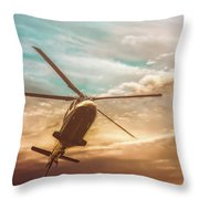 Helicopter Throw Pillow by Bob Orsillo