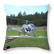 Helicopter Ride South Dakota Throw Pillow
