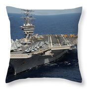 Helicopter's Approaches The Flight Deck Throw Pillow