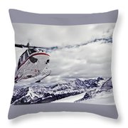 Helihiking In The Canadian Rockies Throw Pillow