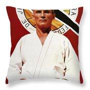 Helio Gracie - Famed Brazilian Jiu-jitsu Grandmaster Throw Pillow