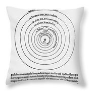 Heliocentric Universe, Copernicus, 1543 Throw Pillow by Science Source