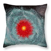 Helix Nebula Throw Pillow by Georgeta  Blanaru