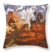 Heavy Weather News - Abstract Modern Art Throw Pillow