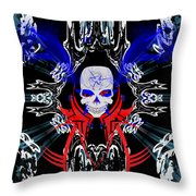 Hell Rider Throw Pillow