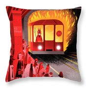 Hell Train Throw Pillow