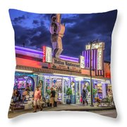 Hellas Restaurant Throw Pillow