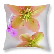 Hellebore Flower Art Throw Pillow