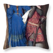 Hellelil And Hildebrand Or The Meeting On The Turret Stairs Throw Pillow