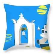 Hellenic Holiday Throw Pillow