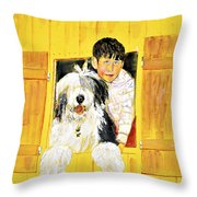Hello Friends, We Are Here Throw Pillow