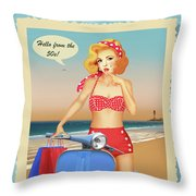 Hello From The 50s Throw Pillow