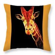 Hello Giraffe Throw Pillow