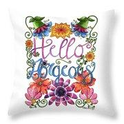 Hello Gorgeous Plus Throw Pillow