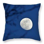 Hello Moon Throw Pillow