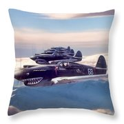 Hell's Angels Throw Pillow
