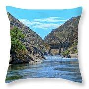 Hells Canyon Dam  Throw Pillow