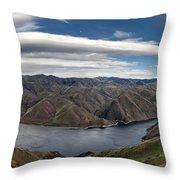 Hells Canyon Panoramic Throw Pillow