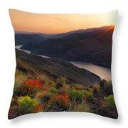Hells Canyon Sunrise Throw Pillow
