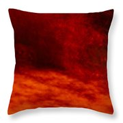 Hells Fire Throw Pillow by Christopher Rowlands