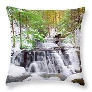 Hells Hollow Falls 1 Throw Pillow